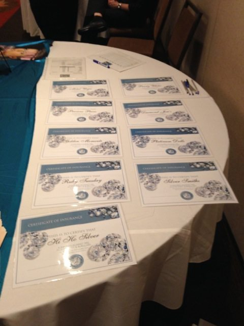 Certificate of Insurance is ready to award.
