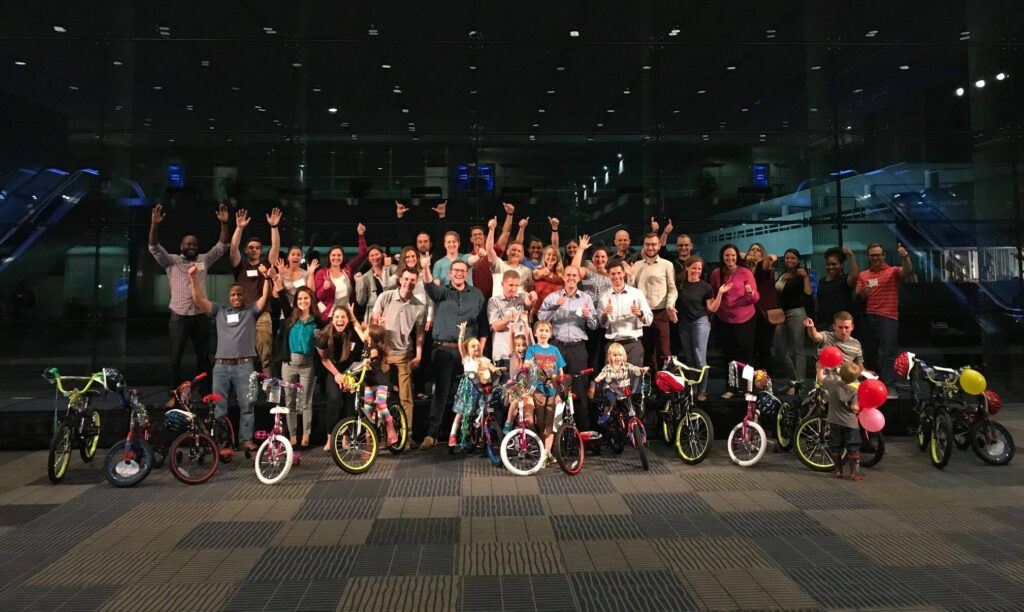 building and donating bikes for charity