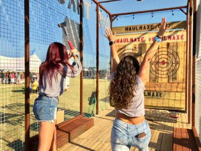 Featured Image For Axe Throwing Team Building Event